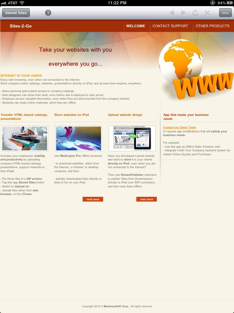 MaximumSoft :: Products :: Sites-2-Go